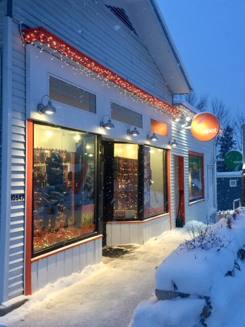 Wintry storefront