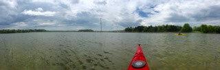View from kayak bow