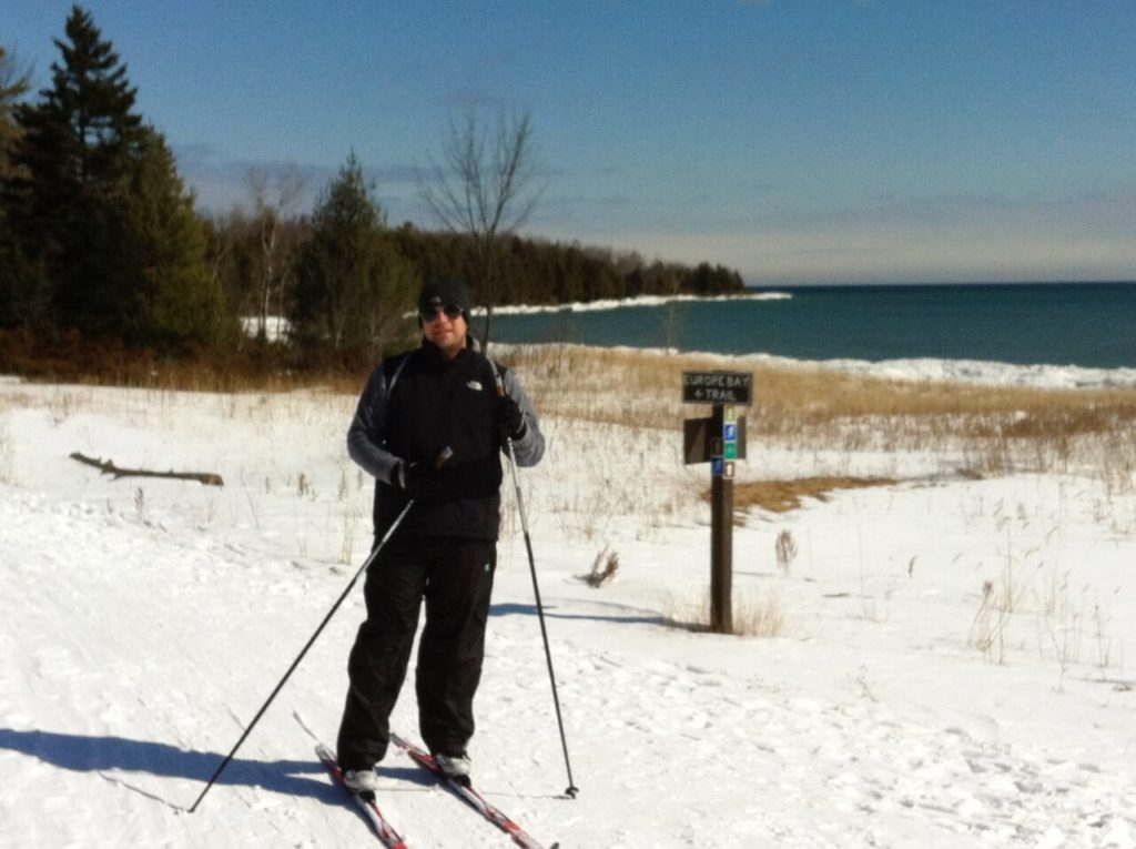 Skiing at Newport State Park