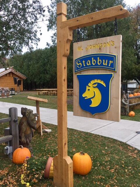 Stabbur's goat sign