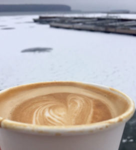Latte art and frozen waters
