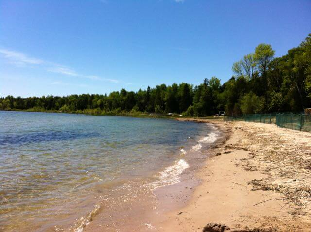 Sand Bay Beach in Liberty Grove